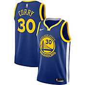 Nike Men's Golden State Warriors Stephen Curry #30 Royal Dri-FIT Swingman Jersey