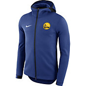 Nike Men's Golden State Warriors On-Court Royal Dri-FIT Showtime Full-Zip Hoodie