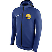 Nike Men's Golden State Warriors On-Court Royal Therma Flex Showtime Full-Zip Hoodie
