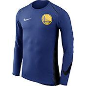 Nike Men's Golden State Warriors Dri-FIT Hyper Elite Royal Long Sleeve Shirt