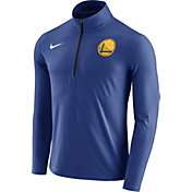 Nike Men's Golden State Warriors Dri-FIT Royal Element Half-Zip Pullover