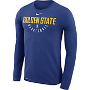 Nike Men's Golden State Warriors Dri-FIT Royal Practice Long Sleeve Shirt