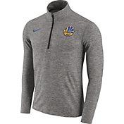 Nike Men's Golden State Warriors Dri-FIT Grey Element Half-Zip Pullover