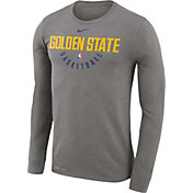 Nike Men's Golden State Warriors Dri-FIT Grey Practice Long Sleeve Shirt
