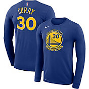 Nike Men's Golden State Warriors Stephen Curry #30 Dri-FIT Royal Long Sleeve Shirt