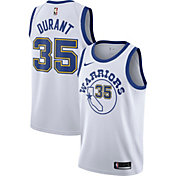 Nike Men's Golden State Warriors Kevin Durant #35 White Hardwood Classic Dri-FIT Swingman Jersey