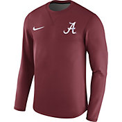 Nike Men's Alabama Crimson Tide Crimson Modern Football Sideline Crew Long Sleeve Shirt