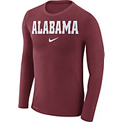 Nike Men's Alabama Crimson Tide Crimson Marled Dri-FIT Long Sleeve Shirt