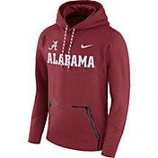 Nike Men's Alabama Crimson Tide Crimson Therma Player Elite Pullover Hoodie