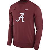 Nike Men's Alabama Crimson Tide Crimson Therma-FIT Crew Football Sideline Sweatshirt