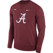 Nike Men's Alabama Crimson Tide Crimson Therma-FIT Crew Football Sideline Sweatshirt