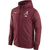 Nike Men's Alabama Crimson Tide Crimson Therma-FIT Full-Zip Football Hoodie