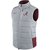 Nike Men's Alabama Crimson Tide Grey/Crimson Football Sideline Vest
