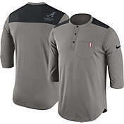 Nike Men's Alabama Crimson Tide Grey Dri-FIT Henley Shirt