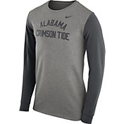 Nike Men's Alabama Crimson Tide Grey Heavyweight Elevated Essentials Long Sleeve Shirt