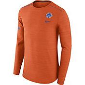 Nike Men's Boise State Broncos Heathered Orange Player Football Sideline Long Sleeve Shirt