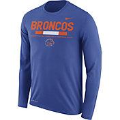 Nike Men's Boise State Broncos Blue Football Sideline Staff Legend Long Sleeve Shirt