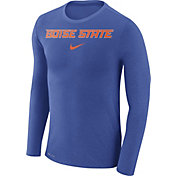 Nike Men's Boise State Broncos Blue Marled Dri-FIT Long Sleeve Shirt