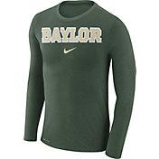 Nike Men's Baylor Bears Green Marled Dri-FIT Long Sleeve Shirt