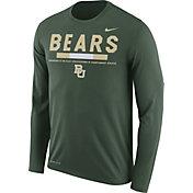 Nike Men's Baylor Bears Green Football Sideline Staff Legend Long Sleeve Shirt