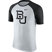 Nike Men's Baylor Bears Oatmeal/Black Gridiron Grey Jersey Hook T-Shirt