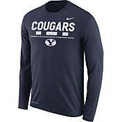 Nike Men's BYU Cougars Blue Football Sideline Staff Legend Long Sleeve Shirt