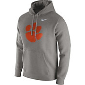 Nike Men's Clemson Tigers Grey Club Fleece Hoodie