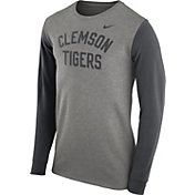 Nike Men's Clemson Tigers Grey Heavyweight Elevated Essentials Long Sleeve Shirt
