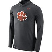 Nike Men's Clemson Tigers Anthracite Dri-Blend Hoodie Long Sleeve Shirt