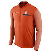 Nike Men's Clemson Tigers Orange Coach Half-Zip Football Sideline Jacket