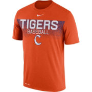 Nike Men's Clemson Tigers Orange Dri-Fit Team Issue Performance Baseball T-Shirt