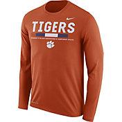 Nike Men's Clemson Tigers Orange Football Sideline Staff Legend Long Sleeve Shirt