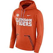 Nike Men's Clemson Tigers Orange Therma Player Elite Pullover Hoodie