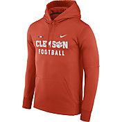 Nike Men's Clemson Tigers Orange Football Sideline Therma-FIT Hoodie