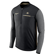 Nike Men's Colorado Buffaloes Coach Black Half-Zip Football Sideline Jacket