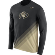 Nike Men's Colorado Buffaloes Black/Gold Football Sideline Dri-FIT Long Sleeve Shirt
