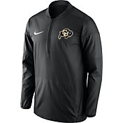 Nike Men's Colorado Buffaloes Lockdown Sideline Black Half-Zip Jacket