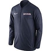 Nike Men's UConn Huskies Blue Lockdown Sideline Half-Zip Jacket