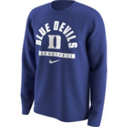 Nike Men's Duke Blue Devils Duke Blue Basketball Logo Long Sleeve Shirt