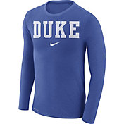 Nike Men's Duke Blue Devils Duke Blue Marled Dri-FIT Long Sleeve Shirt