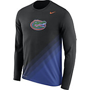 Nike Men's Florida Gators Black/Blue Football Sideline Dri-FIT Long Sleeve Shirt
