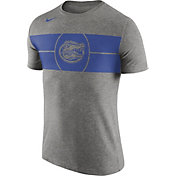 Nike Men's Florida Gators Grey Logo Basketball T-Shirt