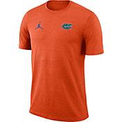 Jordan Men's Florida Gators Orange Coach Football T-Shirt