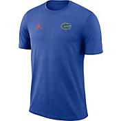 Jordan Men's Florida Gators Blue Coach Football T-Shirt