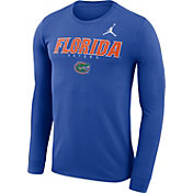 Jordan Men's Florida Gators Blue Football Dri-FIT Facility Long Sleeve T-Shirt