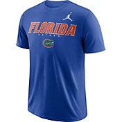 Jordan Men's Florida Gators Blue Football Dri-FIT Facility T-Shirt