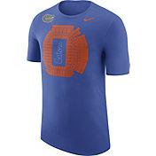 Nike Men's Florida Gators Blue Local Imagery Football Stadium T-Shirt