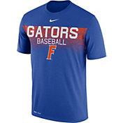 Nike Men's Florida Gators Blue Dri-Fit Team Issue Performance Baseball T-Shirt