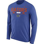 Nike Men's Florida Gators Blue Football Sideline Staff Legend Long Sleeve Shirt