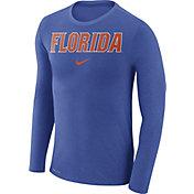Nike Men's Florida Gators Blue Marled Dri-FIT Long Sleeve Shirt